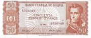 50 Pesos Bolivianos – obverse