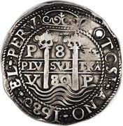 8 Reales - Charles II – reverse