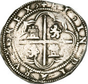 8 Reales - Philip II – reverse