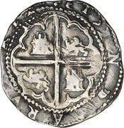 2 Reales - Philip II – reverse