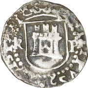 ¼ Real - Philip II – obverse