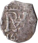 ½ Real - Felipe III – obverse