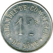 1 Franc (Bône Chamber of Commerce) – reverse