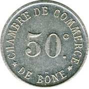 50 Centimes (Bône Chamber of Commerce; Essai) – reverse