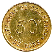 50 Centimes (Bône Chamber of Commerce) – reverse