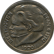 10 Pfennig - Bonn (Ludwig van Beethoven) -  obverse