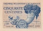 50 centimes - Chambres de Commerce de Bordeaux – obverse