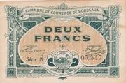 2 Francs - Chambres de Commerce de Bordeaux – obverse