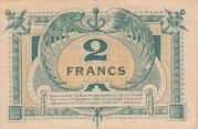 2 Francs - Chambres de Commerce de Bordeaux – reverse