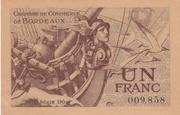 1 Franc - Chambres de Commerce de Bordeaux – obverse