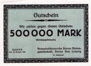 500,000 Mark (Braunkohlenwerke Borna) -  obverse