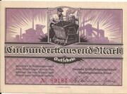 100,000 Mark (Braunkohlenwerke Borna) – obverse