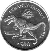 500 Dinara (Tyrannosaurus Rex) – reverse