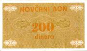200 Dinara – obverse