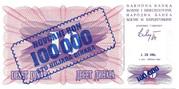 100,000 Dinara on 10 Dinara – obverse