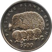 500 Dinara (Hedgehogs) – reverse