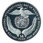 14 ECUS (International Day of Peace) – reverse