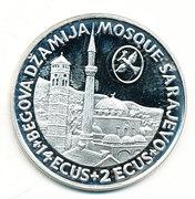 14 ECUS + 2 ECUS (War Relief Funding - Sarajevo Mosque) – reverse