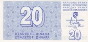 20 Dinara -  obverse