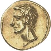 Stater - Polemon I (Augustus and Agrippa) – obverse