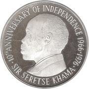 5 Pula (Independence; Silver Proof Issue) – obverse