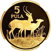 5 Pula (Wildlife) – reverse