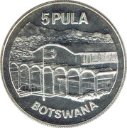 5 Pula (Independence) – reverse