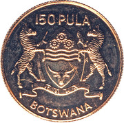 150 Pula (Independence) – obverse