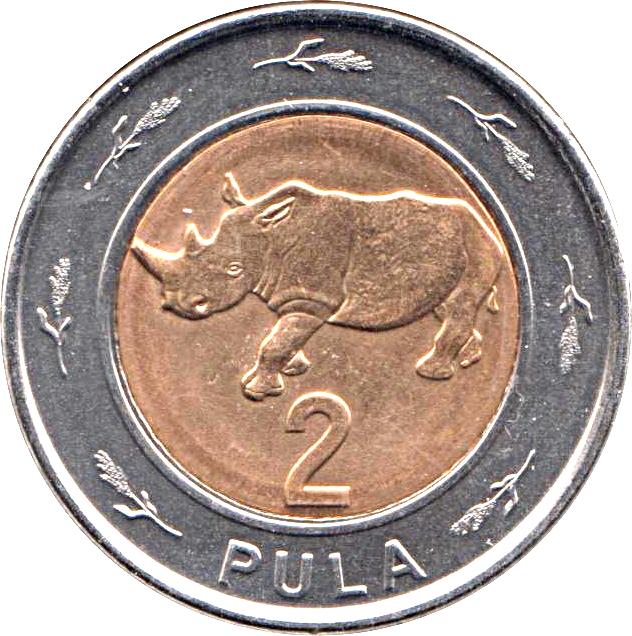 Botswana 2 and 5  Pula  2013 new  bimetallic