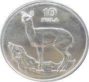 10 Pula (Klipspringer) – reverse