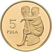5 Pula (Save the Children Fund) – reverse