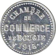 """5 Centimes (Bougie Chamber of Commerce; Straight """"5"""" & Small """"C"""") – obverse"""