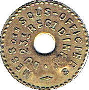 5 Centimes - 23° Régiment d'Infanterie - Bourg-en-Bresse (01) – obverse