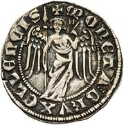 Double Esterlin with angel - Jean I – obverse