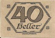 40 Heller (Brandenberg in Tirol) – reverse
