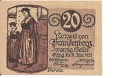 20 Heller (Brandenberg in Tirol) – obverse