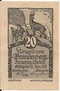 20 Heller (Brandenberg) – obverse