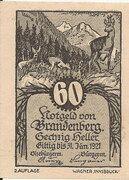 60 Heller (Brandenberg) – obverse