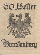 60 Heller (Brandenberg) – reverse