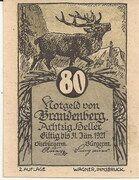 80 Heller (Brandenberg) – obverse