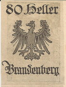 80 Heller (Brandenberg) – reverse