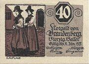 40 Heller (Brandenberg) – obverse