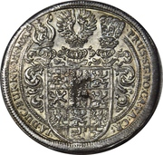 1 Thaler - Friedrich, Albert and Christian – reverse