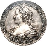 1 Thaler - Karl Wilhelm Friedrich & Christiane Charlotte – obverse