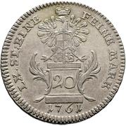 20 Kreuzer - Christian Friedrich Karl Alexander (20 Konventionskreuzer) – reverse