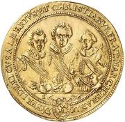 4 Ducat - Friedrich, Albert and Christian – obverse