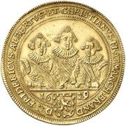 5 Ducat - Friedrich, Albert and Christian (Gold pattern strike) – obverse