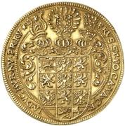 5 Ducat - Friedrich, Albert and Christian (Gold pattern strike) – reverse
