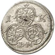 1 Kreuzer - Johann Friedrich – reverse