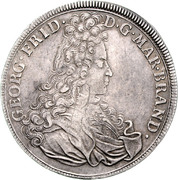 1 Thaler - Georg Friedrich II. (Start of reign) – obverse